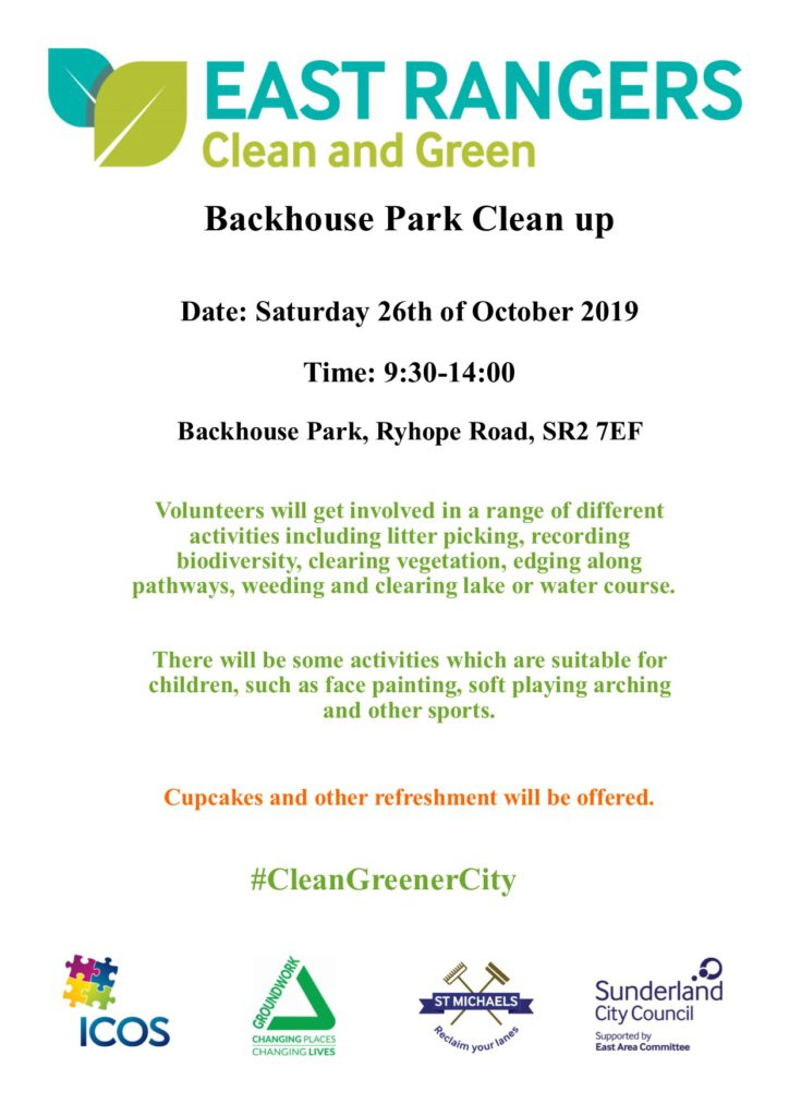 Backhouse Park Clean Up on 26th October @ Backhouse Park