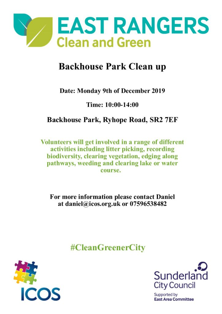 Backhouse Park Clean Up on 9th December @ Backhouse Park