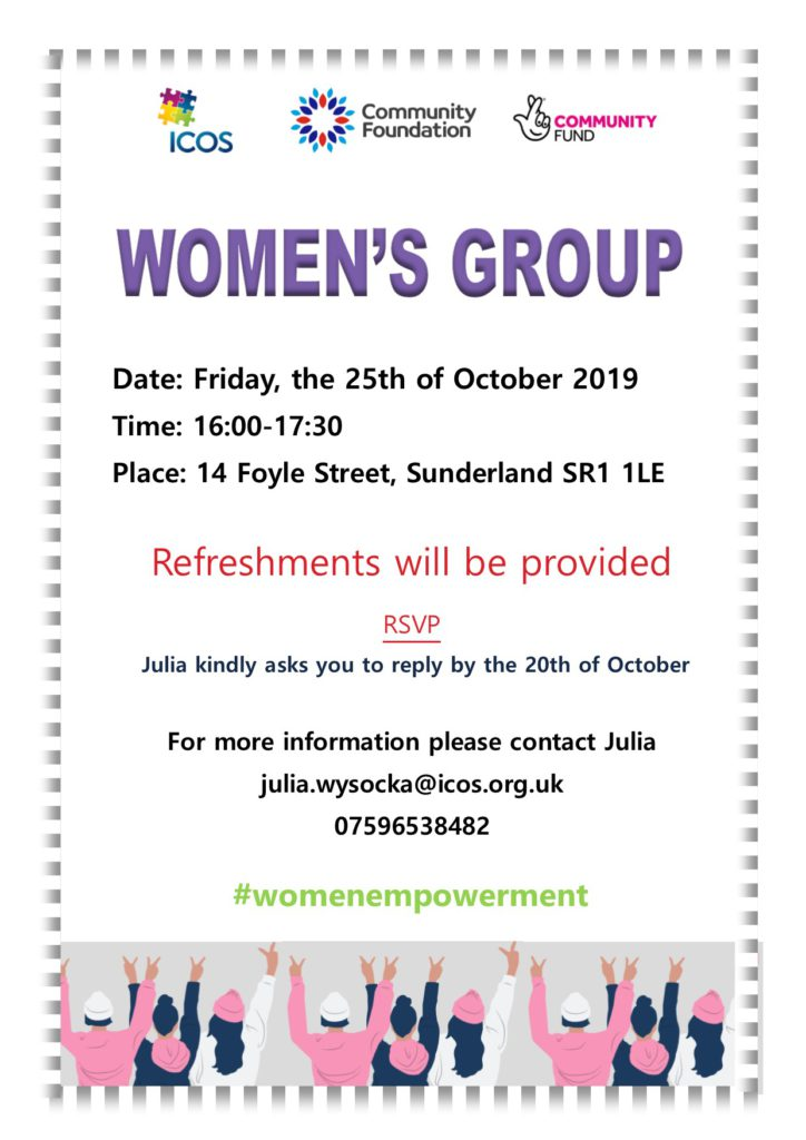 ICOS Women Group meets on Friday, 25th October @ ICOS ( Top Floor )
