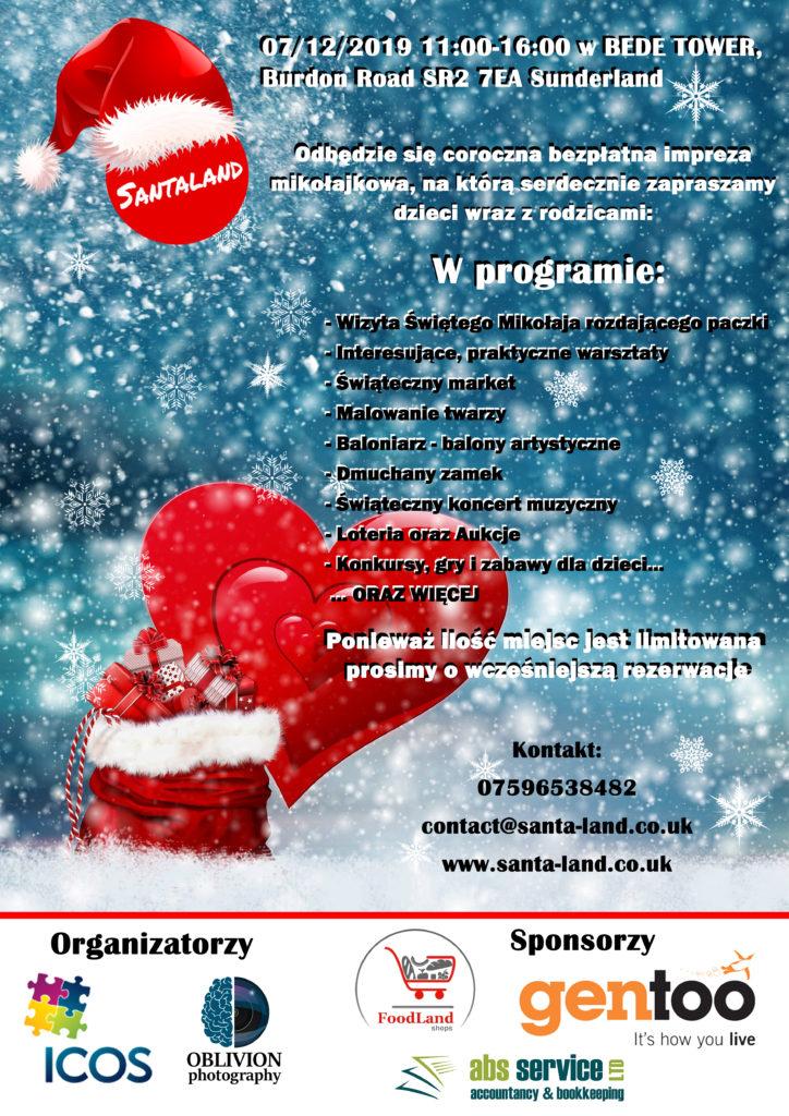 Santa Claus Day/ Mikołajki starts at 11 am @ Bede Tower on Burdon Road