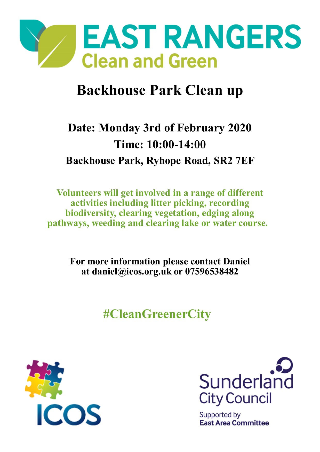 Backhouse Park Clean Up @ Backhouse Park