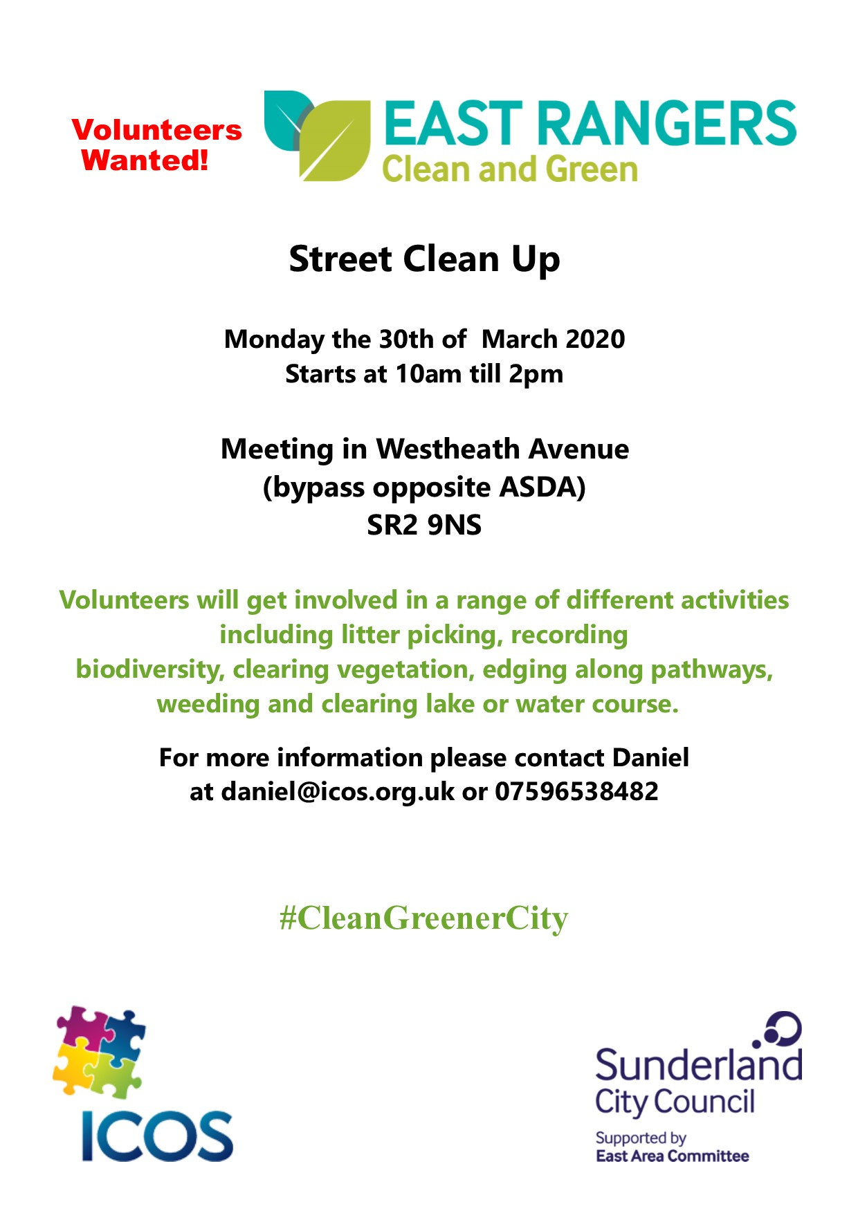 (Cancelled) Westheath Avenue Clean Up @ Meet at bypass opposite ASDA
