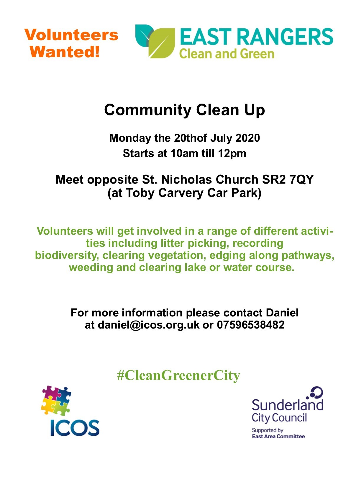 St Nicholas Church Clean Up @ Meet at Toby Carvery Car Park