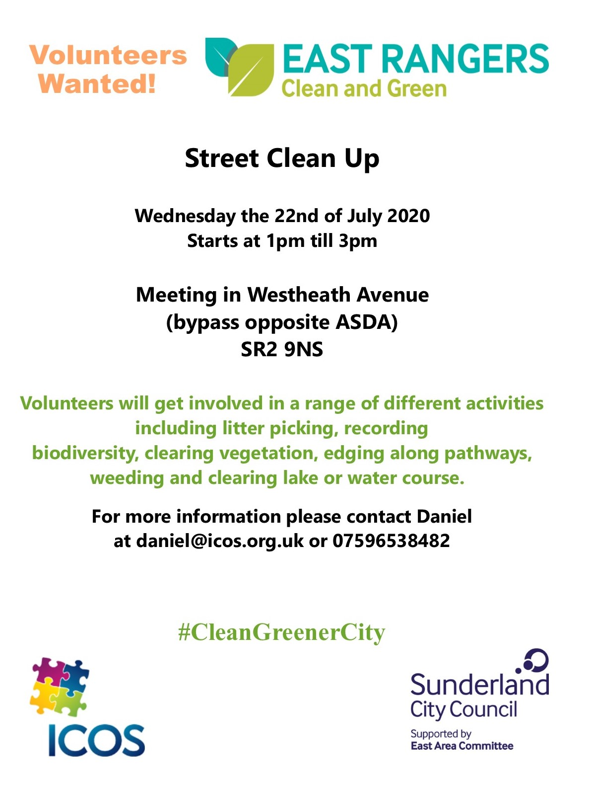 Westheath Avenue Clean Up @ Meet at bypass opposite ASDA