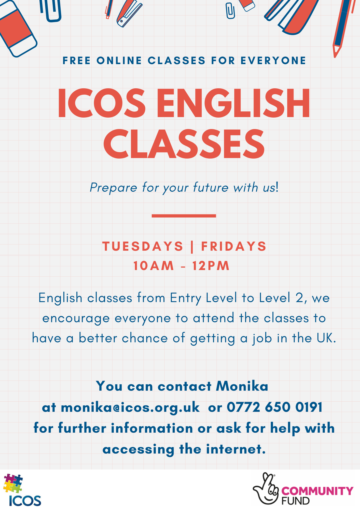 Free Online English Classes @ Online | England | United Kingdom